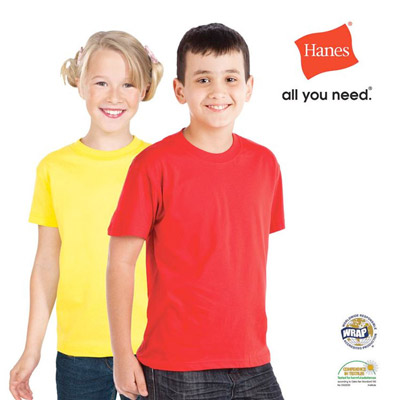Customise Hanes Dallas Kids T Shirt